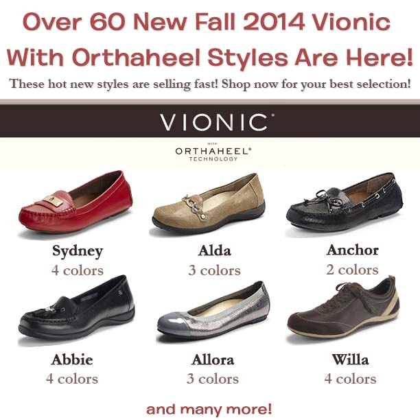 9150aed65016 Vionic with Orthaheel Technology brings science plus style to new heights.  Orthaheel technology provides biomechanically contoured support concealed  within ...