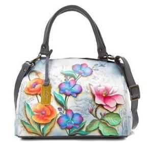Floral Fantasy Triple Compartment Large Satchel - $398